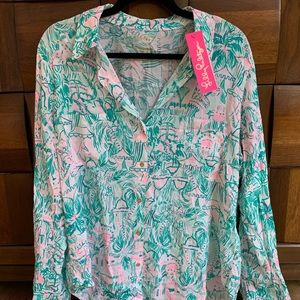 Lilly Pulitzer button down shirt size L